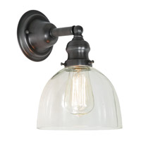 JVI Designs Union Square 1 Light Wall Sconce in Gun Metal 1210-18-S5