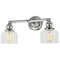 Union Square Shyra 2 Light 17 inch Polished Nickel Bathroom Wall Sconce Wall Light
