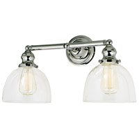 Union Square Madison 2 Light 19 inch Polished Nickel Bathroom Wall Sconce Wall Light