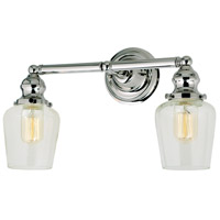 Union Square Liberty 2 Light 15 inch Polished Nickel Bathroom Wall Sconce Wall Light