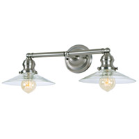 Union Square Ashbury 2 Light 20 inch Satin Nickel Bathroom Wall Sconce Wall Light