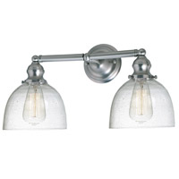 JVI Designs 1211-17-S5-CB Union Square Madison 2 Light 19 inch Satin Nickel Bathroom Wall Sconce Wall Light photo thumbnail