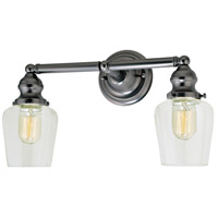Union Square Liberty 2 Light 15 inch Gun Metal Bathroom Wall Sconce Wall Light
