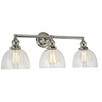 JVI Designs 1212-15-S5-CB Union Square Madison 3 Light 27 inch Polished Nickel Bathroom Wall Sconce Wall Light in Clear Bubble Glass photo thumbnail