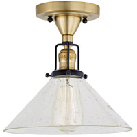JVI Designs 1222-10-S2-CB Nob Hill 1 Light 1 inch Satin Brass and Black Flush Ceiling Mount Ceiling Light