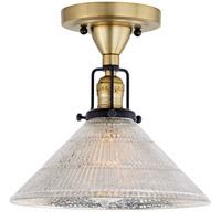 JVI Designs 1222-10-S2-MP Nob Hill 1 Light 1 inch Satin Brass and Black Flush Ceiling Mount Ceiling Light