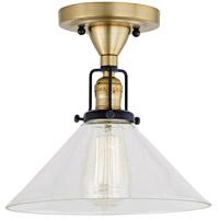 JVI Designs 1222-10-S2 Nob Hill 1 Light 1 inch Satin Brass and Black Flush Ceiling Mount Ceiling Light