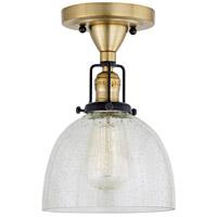 JVI Designs 1222-10-S5-CB Nob Hill 1 Light 7 inch Satin Brass and Black Flush Ceiling Mount Ceiling Light