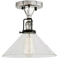 JVI Designs 1222-15-S2-CB Nob Hill 1 Light 1 inch Polished Nickel and Black Flush Ceiling Mount Ceiling Light