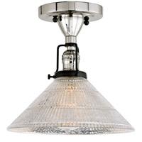 JVI Designs 1222-15-S2-MP Nob Hill 1 Light 1 inch Polished Nickel and Black Flush Ceiling Mount Ceiling Light