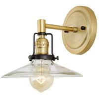 JVI Designs 1223-10-S1 Nob Hill 1 Light 8 inch Satin Brass and Black Wall Sconce Wall Light