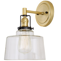 JVI Designs 1223-10-S14 Nob Hill 1 Light 7 inch Satin Brass and Black Wall Sconce Wall Light