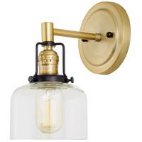 JVI Designs 1223-10-S4 Nob Hill 1 Light 5 inch Satin Brass and Black Wall Sconce Wall Light