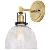 JVI Designs 1223-10-S5-CB Nob Hill 1 Light 7 inch Satin Brass and Black Wall Sconce Wall Light