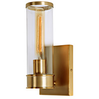JVI Designs 1231-10 Gramercy 1 Light 5 inch Satin Brass Wall Sconce Wall Light in Rubbed Brass