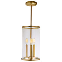 JVI Designs 1243-10 Gramercy 3 Light 8 inch Satin Brass Pendant Ceiling Light