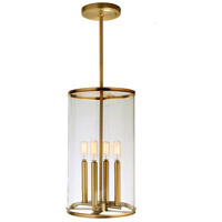 JVI Designs 1244-10 Gramercy 4 Light 10 inch Satin Brass Pendant Ceiling Light