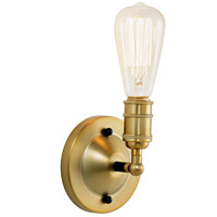 JVI Designs 1245-10 Bedford 1 Light 5 inch Satin Brass and Black Wall Sconce/Flush Ceiling Mount Ceiling Light