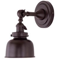 JVI Designs 1251-08-M2 Soho 8 inch 100 watt Oil Rubbed Bronze Swing Arm Wall Sconce Wall Light