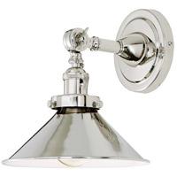 JVI Designs 1251-15-M3 Soho 10 inch 100 watt Polished Nickel Swing Arm Wall Sconce Wall Light