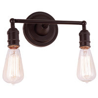 JVI Designs 1252-08 Soho 2 Light 11 inch Oil Rubbed Bronze Bathroom Wall Sconce Wall Light