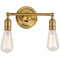 JVI Designs 1252-10 Soho 2 Light 11 inch Satin Brass Bathroom Wall Sconce Wall Light