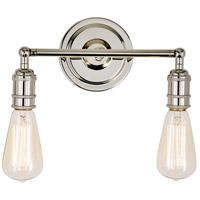 JVI Designs 1252-15 Soho 2 Light 11 inch Polished Nickel Bathroom Wall Sconce Wall Light