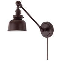 JVI Designs 1255-08-M2 Soho 21 inch 100 watt Oil Rubbed Bronze Swing Arm Wall Sconce Wall Light