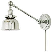 JVI Designs 1255-15-M2 Soho 21 inch 100 watt Polished Nickel Swing Arm Wall Sconce Wall Light
