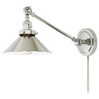 JVI Designs 1255-15-M3 Soho 2 inch 100 watt Polished Nickel Swing Arm Wall Sconce Wall Light