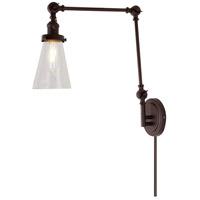JVI Designs 1257-08-S10 Soho 36 inch 100 watt Oil Rubbed Bronze Swing Arm Wall Sconce Wall Light