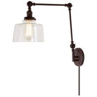 JVI Designs 1257-08-S14 Soho 35 inch 100 watt Oil Rubbed Bronze Swing Arm Wall Sconce Wall Light