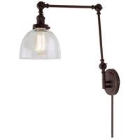 JVI Designs 1257-08-S5-CB Soho 35 inch 100 watt Oil Rubbed Bronze Swing Arm Wall Sconce Wall Light