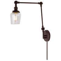 JVI Designs 1257-08-S9 Soho 35 inch 100 watt Oil Rubbed Bronze Swing Arm Wall Sconce Wall Light