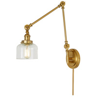 JVI Designs 1257-10-S4 Soho 33 inch 100 watt Satin Brass Swing Arm Wall Sconce Wall Light