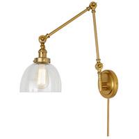 JVI Designs 1257-10-S5 Soho 35 inch 100 watt Satin Brass Swing Arm Wall Sconce Wall Light