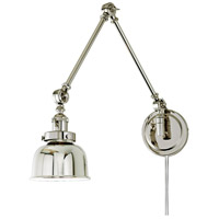 JVI Designs 1257-15-M2 Soho 33 inch 100 watt Polished Nickel Swing Arm Wall Sconce Wall Light