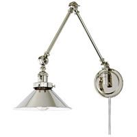 JVI Designs 1257-15-M3 Soho 33 inch 100 watt Polished Nickel Swing Arm Wall Sconce Wall Light