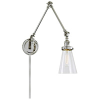 JVI Designs 1257-15-S10 Soho 36 inch 100 watt Polished Nickel Swing Arm Wall Sconce Wall Light
