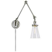 JVI Designs 1257-15-S10 Soho 36 inch 100 watt Polished Nickel Swing Arm Wall Sconce Wall Light