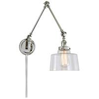 JVI Designs 1257-15-S14 Soho 35 inch 100 watt Polished Nickel Swing Arm Wall Sconce Wall Light
