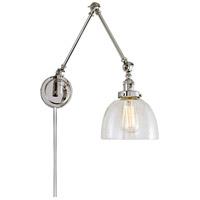 JVI Designs 1257-15-S5-CB Soho 35 inch 100 watt Polished Nickel Swing Arm Wall Sconce Wall Light
