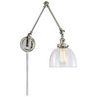JVI Designs 1257-15-S5 Soho 35 inch 100 watt Polished Nickel Swing Arm Wall Sconce Wall Light