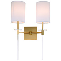 Sutton 2 Light 14 inch Satin Brass Wall Sconce Wall Light