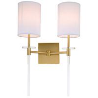 JVI Designs 1262-10 Sutton 2 Light 14 inch Satin Brass Wall Sconce Wall Light