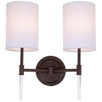 JVI Designs 1266-08 Hudson 2 Light 14 inch Oil Rubbed Bronze Wall Sconce Wall Light