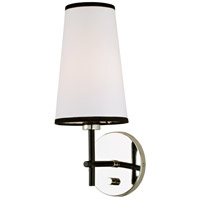 JVI Designs 1275-15 Bellevue 1 Light 6 inch Polished Nickel and Black Wall Sconce Wall Light