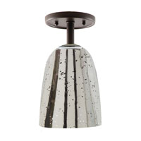 JVI Designs Grand Central 1 Light Semi-Flush Mount in Pewter 1301-17-G4-AM
