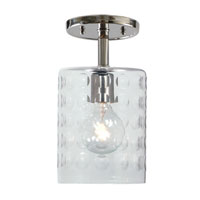 JVI Designs Grand Central 1 Light Semi-Flush Mount in Polished Nickel 1301-15-G10