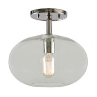 JVI Designs Grand Central 1 Light Semi-Flush Mount in Gun Metal 1301-18-G9
